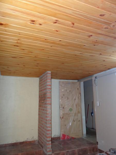 Revestimiento de madera para techo.